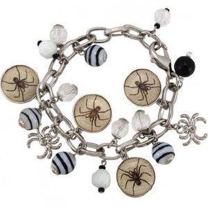 Bethany Lowe Spider Picture Charm Bracelet